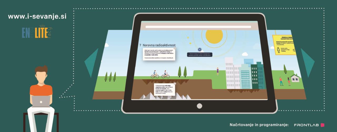 iSevanje - interaktivno gradivo o sevanju v vsakdanjem življenju
